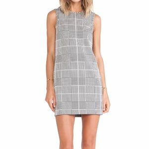 Theory cotton Houndstooth Mini Dress